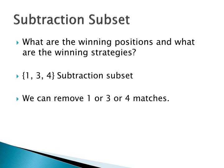 Subtraction Subset
