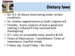 dietary laws