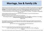 marriage sex family life