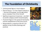 the foundation of christianity