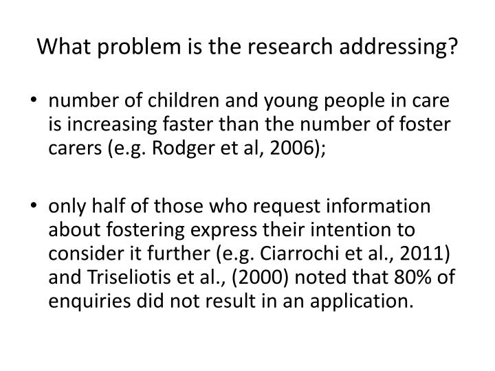 What problem is the research addressing?