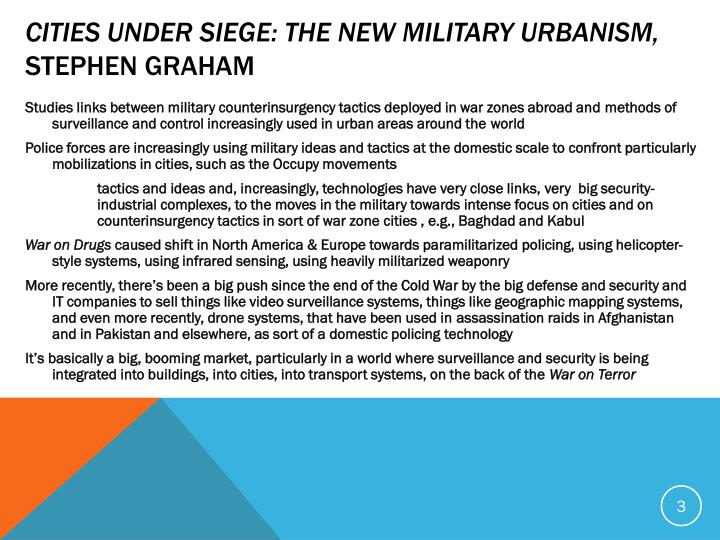 Cities Under Siege: The New Military