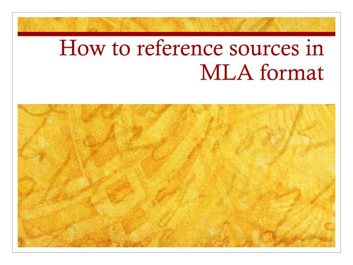how to reference sources in mla format n.