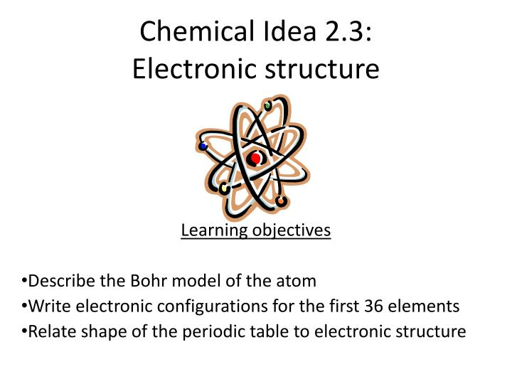 chemical idea 2 3 electronic structure n.