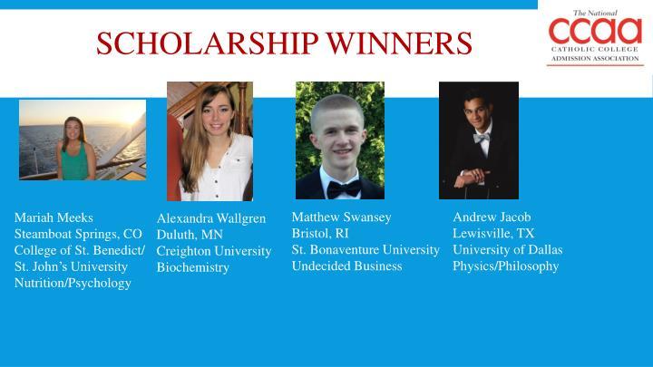 Scholarship winners1