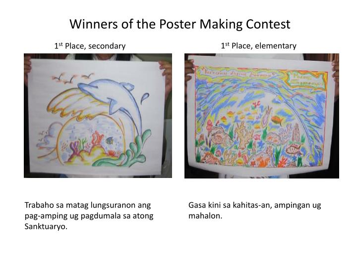 PPT - Winners of the Poster Making Contest PowerPoint Presentation