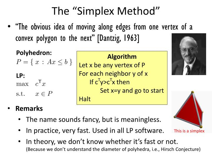 the simplex solution method essay In those cases, simplex method helps to solve such problem in simple, in graphical method is used when the constraints contain two variables only but simplex method can be used to solve.