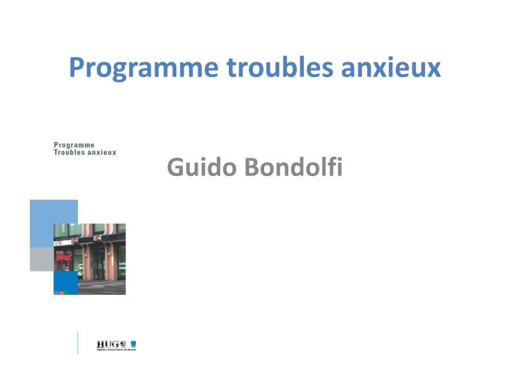 programme troubles anxieux