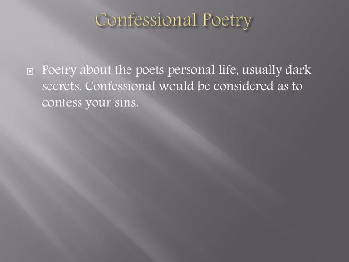 Confessional Poetry