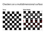 checkers on a multidimensional surface