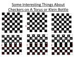 some interesting things about checkers on a torus or klein bottle