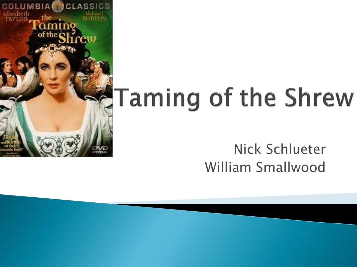taming of the shrew n.