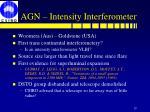 agn intensity interferometer