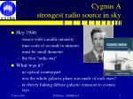 cygnus a strongest radio source in sky