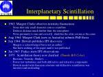 interplanetary scintillation