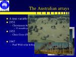 the australian arrays