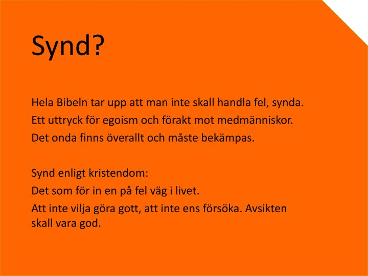 Synd?