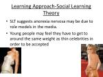 learning approach social learning theory