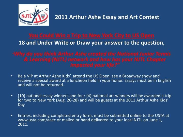 2011 Arthur Ashe Essay and Art Contest