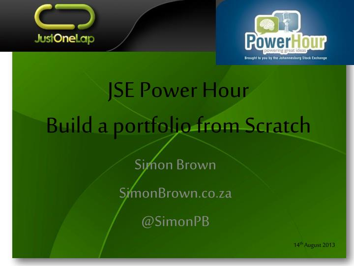 jse power hour build a portfolio from scratch n.