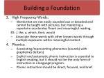 building a foundation1