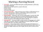 marking a running record