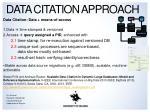 data citation approach