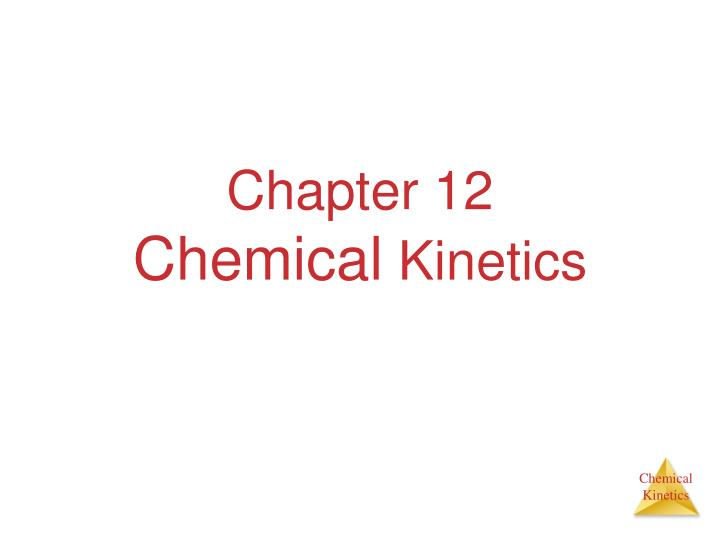 chapter 12 chemical kinetics n.