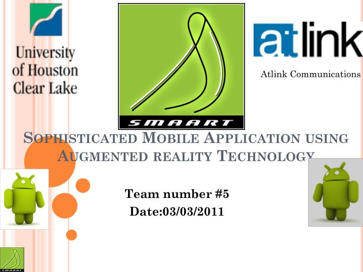 smaart sophisticated mobile application using augmented reality technology n.