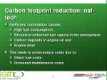 carbon footprint reduction naf tech