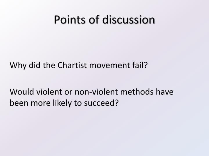 why did chartism fail