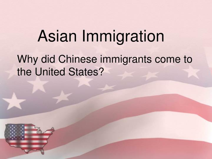 life for a chinese immigrant in the united states A study of the ethnic makeup in the united states (based on the 1980 census) and its impact on life in the united states null, gary and carl stone the italian-americans.