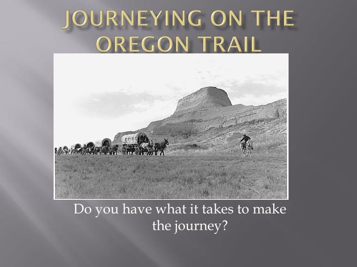 journeying on the oregon trail n.