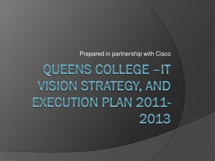 prepared in partnership with cisco n.