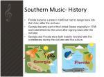 southern music history