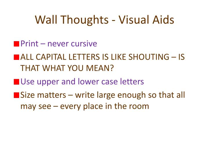 Wall Thoughts - Visual Aids