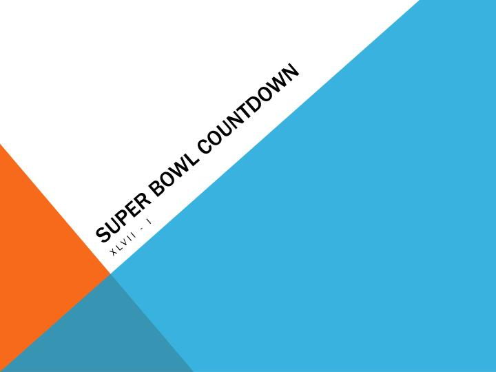 super bowl countdown n.