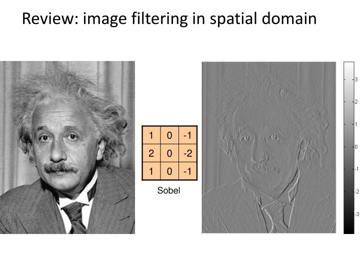 Review: image filtering in spatial