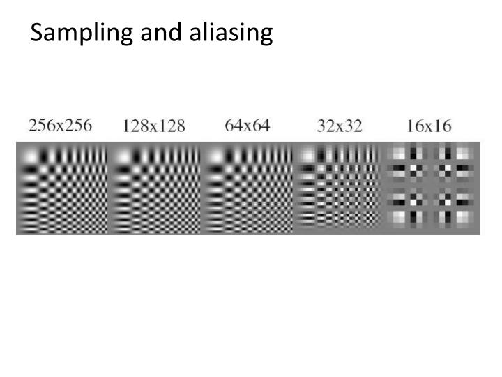Sampling and aliasing