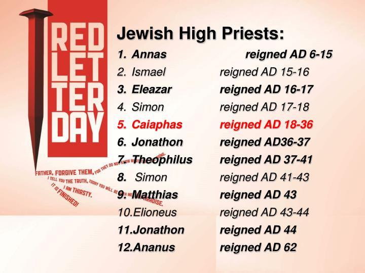 Jewish High Priests: