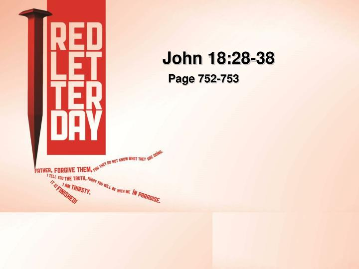John 18:28-38