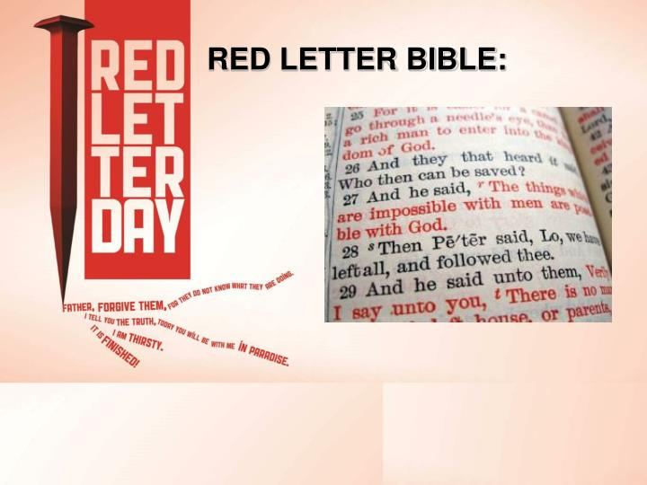 RED LETTER BIBLE: