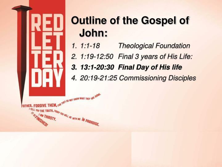 Outline of the Gospel of John:
