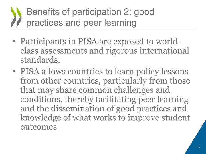 Benefits of participation