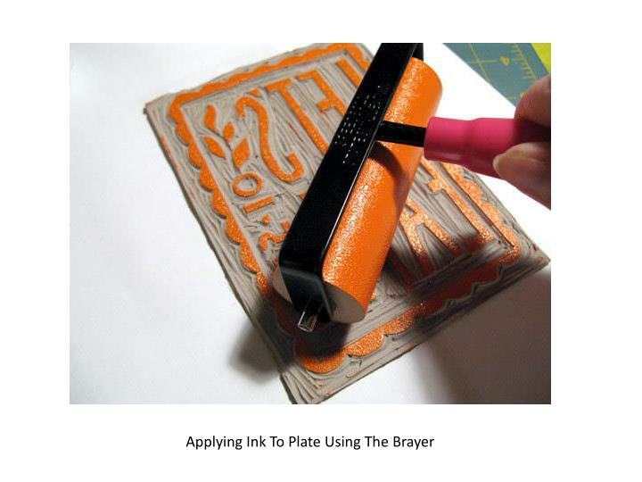 Applying Ink To Plate Using The Brayer