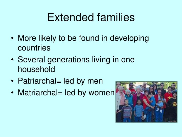 Extended families