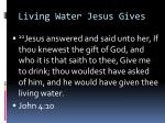 living water jesus gives