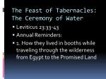 the feast of tabernacles the ceremony of water