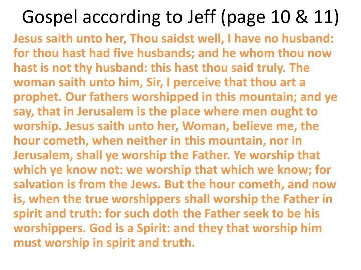 Gospel according to Jeff (page 10 & 11)