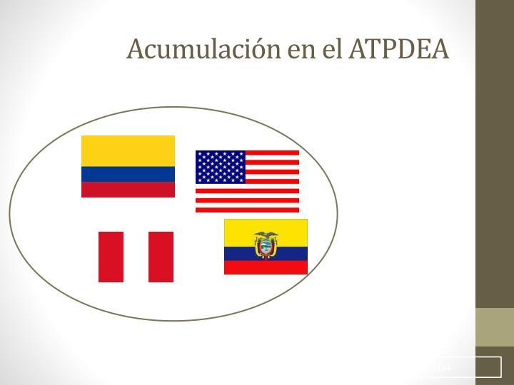 Acumulación en el ATPDEA